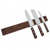 Knivmagnet i valnøddetræ 7 knive 45 cm